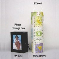 Wine BarrelPhoto Storage Box